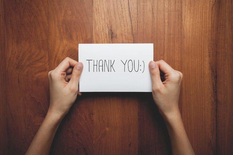 Nekaj nasvetov pri pisanju zahvalnega pisma